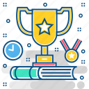achievement, award, champion, prize, reward, success, trophy icon