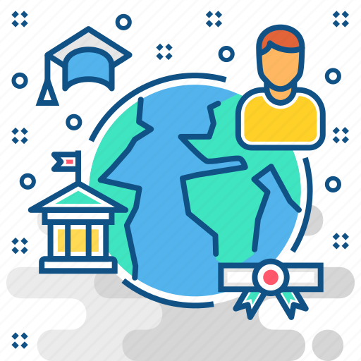 Distance learning, education, global icon - Download on Iconfinder