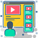 media, multimedia, player, tutorial, tutorials, video, youtube icon