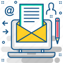 chat, communication, email, inbox, letter, mail, message icon