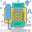 communication, document, fax, machine icon