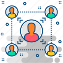 connection, connectivity, group, network, people, relationship, team icon