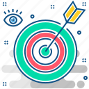 bullseye, target, aim, mission, arrow, goal