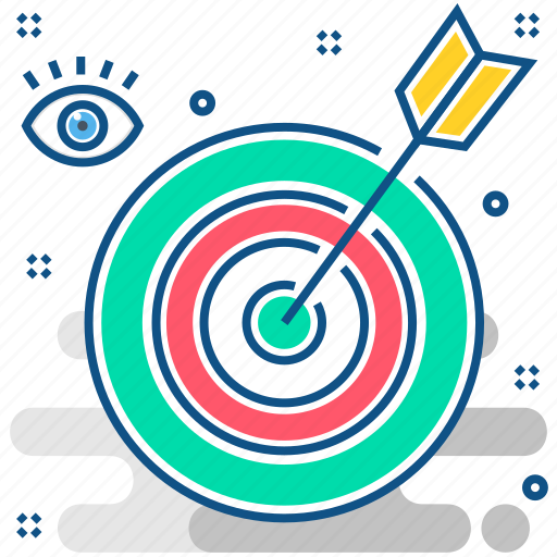 aim, arrow, bullseye, goal, mission, target icon
