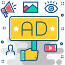 ad, broadcast, advertisement, advertising, marketing, promotion, services icon