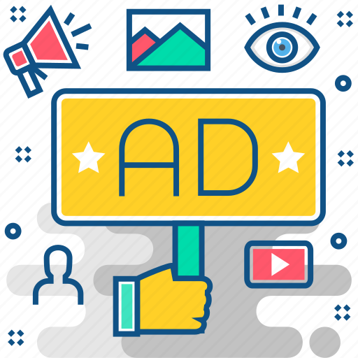 ad, advertisement, advertising, broadcast, marketing, promotion, services icon