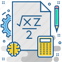 maths, brainstorm, mathematical, mathematics, lesson, class, math icon