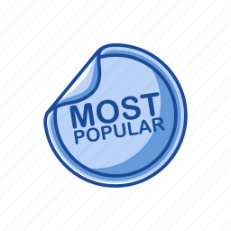 badge, best seller, most popular, top icon