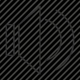 control, listen, loud, music, mute, sound, volume icon