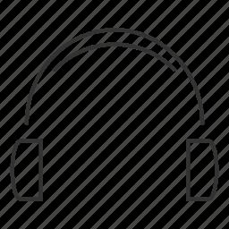 head, headpones, headset, listen, music, phones, remote icon
