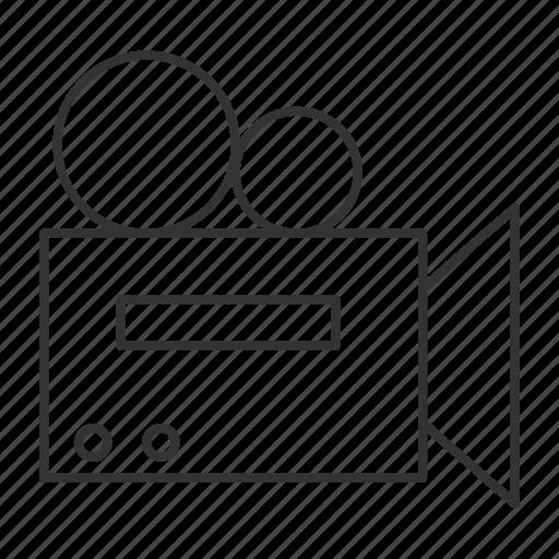 camera, document, film, movie, multimedia, snap, tape icon