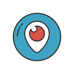 logo, periscope, social media, videos icon