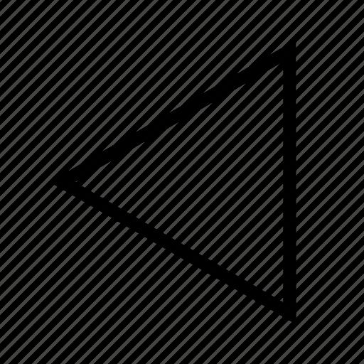 left, push left, triangle icon