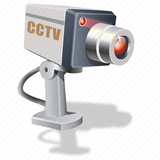Cctv Surveillance Camera Icon Computer Web Cam Icon Round Computer ...