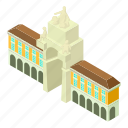 building, capital, corporate, isometric, logo, object, office