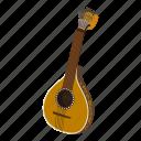 acoustic, audio, classic, guitar, isometric, logo, object