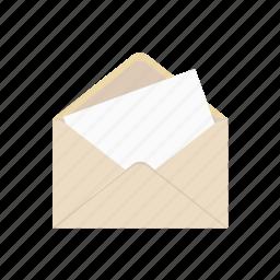 e-mail, envelope, letter, open, post, read icon