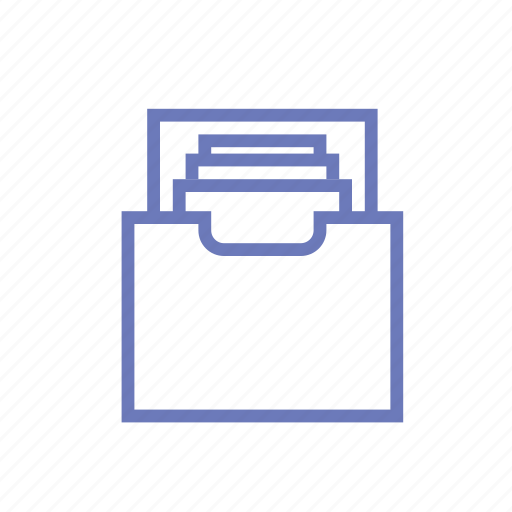 archive, file, mail, mailbox, office icon
