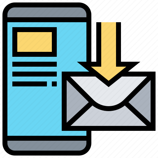 inbox, letter, mail, online, receive icon