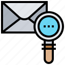inbox, letter, mail, searching, tracking