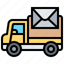 delivery, letter, services, transportation, vehicle icon