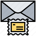 letter, postage, press, seal, stamp icon