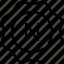 emblem, letter, seal, stamp, sticker icon