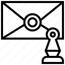 affix, enclose, letter, seal, stamp icon