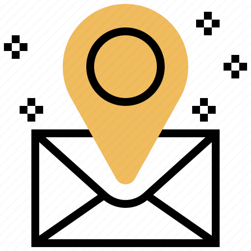 Address, destination, letter, mail, pin icon - Download on Iconfinder