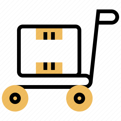 cart, delivery, logistic, package, parcel icon