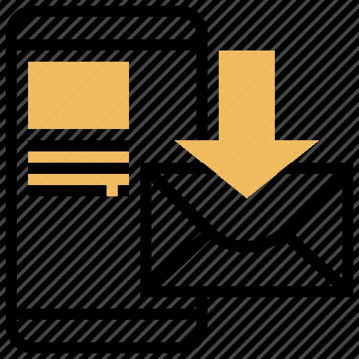 Inbox, letter, mail, online, receive icon - Download on Iconfinder