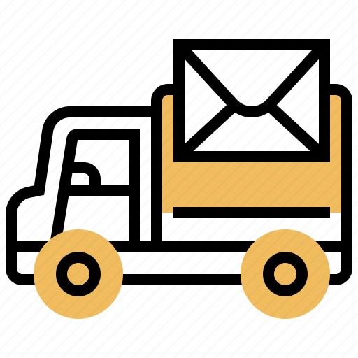 Delivery, letter, services, transportation, vehicle icon - Download on Iconfinder