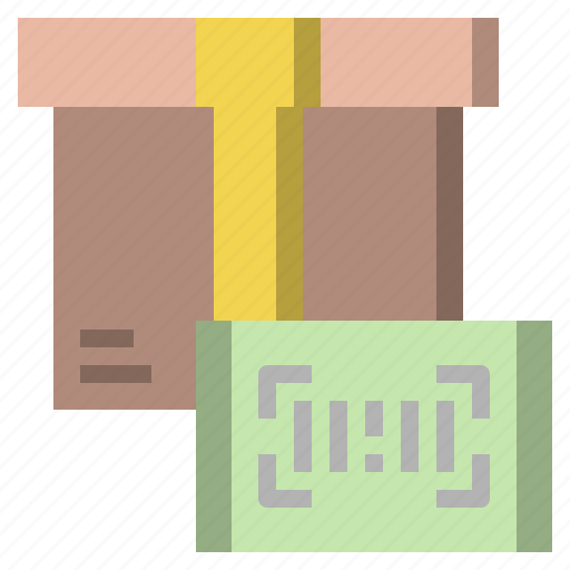 and, barcode, delivery, packaging, shipping, tracking, transportation icon