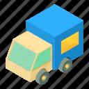 auto, isometric, object, post, send, truck, vehicle