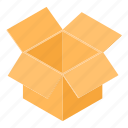 box, cardboard, container, empty, isometric, object, packaging