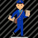 man, service, postman, delivery, post, deliver, package
