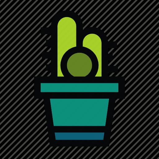 Cactus, flower, leaf, plant, pot, trees icon - Download on Iconfinder