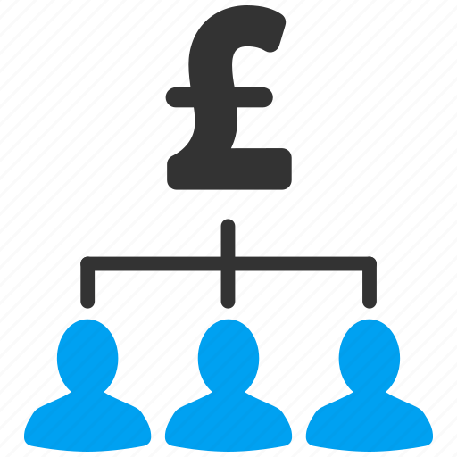 financial chart, money recipients, network, payment, people, pound sterling, relations icon