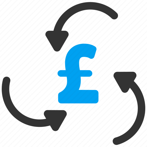 arrow, business, cycle, money swirl, pound sterling, refresh, update icon
