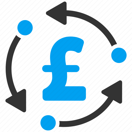 currency, finance, money rotation, pound sterling, refresh, rotate, update icon