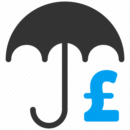 business, financial protection, money, payment, pound sterling, shield, umbrella icon