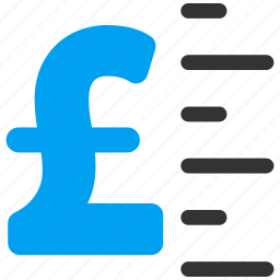 financial, graduation, measure, pound sterling, price, rate, value icon