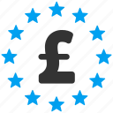 bank, business, financial, money, pound sterling, stars, wealth icon