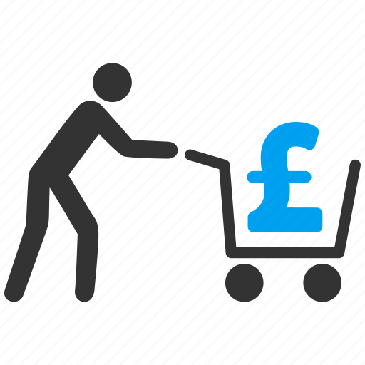 basket, cart, cash out, money, order, payment, pound sterling icon