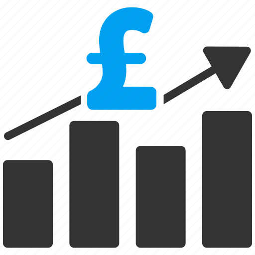 bar chart, finance, financial trends, graph, pound sterling, sales report, statistic icon