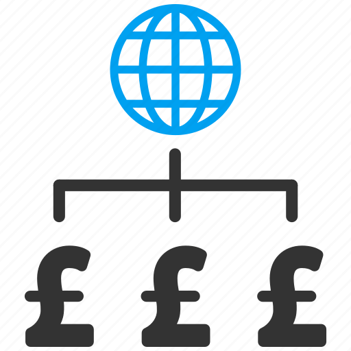 connection, earth, global payments, globe, international corporation, internet, pound sterling icon
