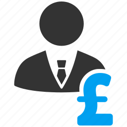 banker, businessman, collector, loan, pound sterling, rich, salary icon