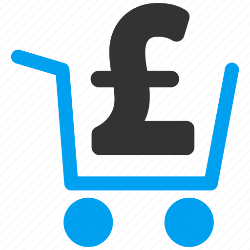 cart, cash out, order, payment, pound sterling, purchase, shopping icon