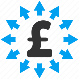 cash outs, distribution, expenses, payment, pound sterling, send, spend money icon