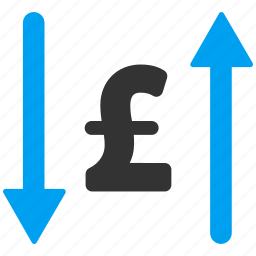 exchange, finance, payments, pound sterling, swap, transactions, transfer icon